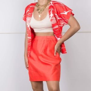 Candy Red Skirt Set